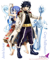 Ice Loves Water,Gray Fullbuster. Juvia Loxar by icecream80810