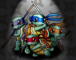 Teenage Mutant Ninja Squirtles by CrimsonKanji