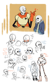 spooky scary skelebros by an-artist-complex