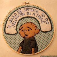 Karl Pilkington Hoop by loveandasandwich