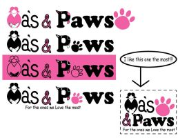 Mas and Paws logo ideas2 by KCCreations