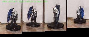 Sephiroth with wing furled by RowlandCooney