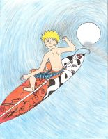 surfs up naruto style by skywolfangel