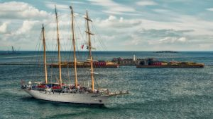 Star Flyer in the Baltic Sea by pingallery
