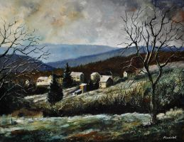 Last snow in Ardennes by pledent