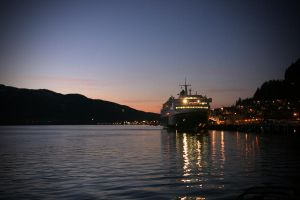 Sunset on the Tongass Narrows by Muskeg