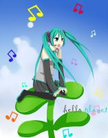 Miku - Hello Planet by JerukLucu