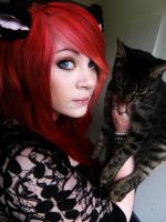 me and my cat! by AmberMcrackin
