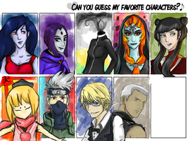 Favorite character meme WIP by Akadafeathers