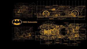 Batmobile 1989 Blueprints by kharec84