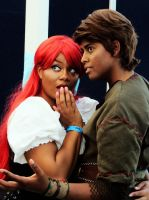 Ariel and Pan by LadiPendragon