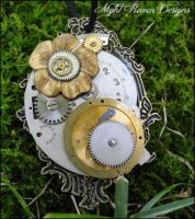 Framed Oval Pendant by TheClockworkCrow
