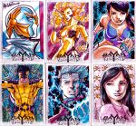 BK sketchcards colored pieces by gammaknight