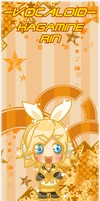 VOCALOID BOOKMARK: RIN by Kutori