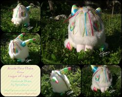 Arcade Poro Plushie from League of Legends by SpinaOscura