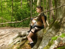 lara Croft - Woodland 6 by BunniKez