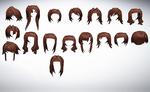 MMD Front hair pack 02 26-42 of 50+ by amiamy111
