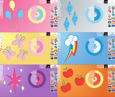 MLP Rainmeter - The Mane Six by WinterKirby