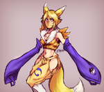 Renamon Gijinka by KAZECoyote