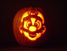Super mario Pumpkin by evan3585