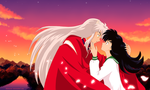 Inuyasha and Kagome by katewind