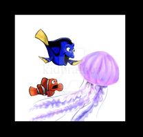 Dory Finds a Jellyfish by kidbrainer