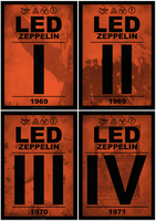 Led Zeppelin I-IV Posters by GabeRios