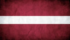 Latvia Grunge Flag by think0