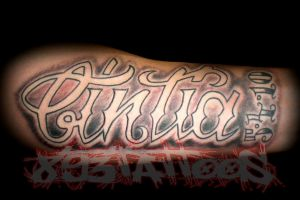 custom lettering by gil893tattoos