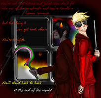 Fanart: Davekat with background by tanukyle