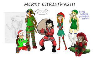 Christmas Collab of sorts by Jutopa