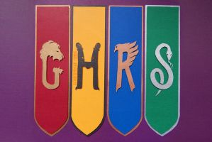 Cursed Child Hogwarts Banners by thesearejessicakes