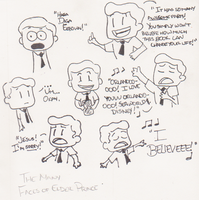 the many faces of Elder Price by jengablocks