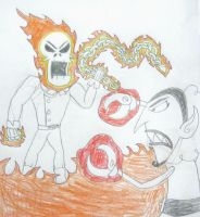 Ghost Rider vs Him, Rough Sketch by MetroXLR99