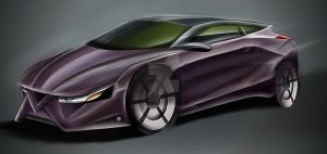 Alfea concept car sketching by koleos33
