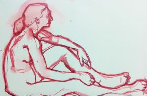 Figure Study by Contrast-and-Colour
