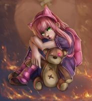 Annie and Tibbers fan art by Hamzilla15