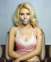 Scarlett Johansson Duct Tape Gagged by Goldy0123
