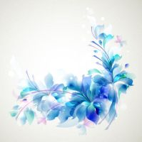 Elegant-Blue-Flower-background by vectorbackgrounds