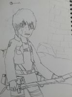 Classroom sketches-SNK- Eren by Sonicw555