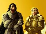 The Kingslayer and the Hound by kallielef