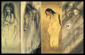 Japanese Yokai Ghost Scrolls by ColinMartinPWherman