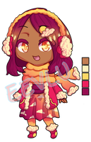 [OPEN] Adoptable Sunset Cloud Chibi Girl For Sale by Fireaux
