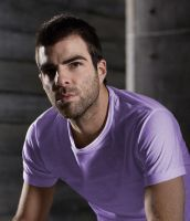 Zachary Quinto in purple by 0alexinanutshell0