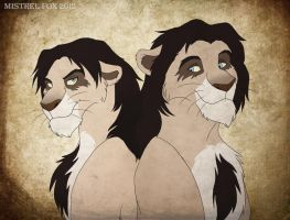 ::Kiriban pic:: Vilkas and Farkas by Mistrel-Fox