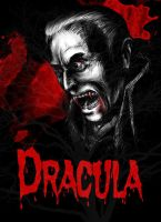 Christopher Lee as Dracula by InfamouslyDorky