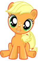 Filly Applejack without background by AnEvilZebra