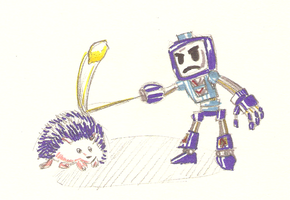 Humanoid Robots Shooting Lemons At Blue Hedgehogs by the-Rose-of-Blue