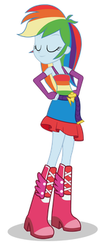 Rainbow Dash (dance club dress) 2 - Equestria girl by negasun