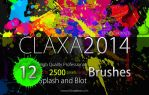 12 FREE HQ Pro Splatter Brushes for Photoshop by EldarZakirov